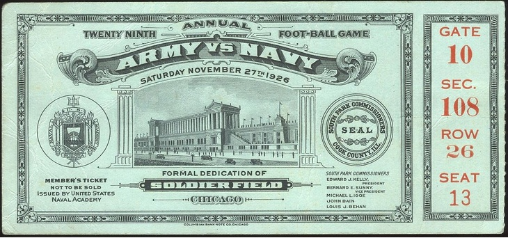 Army-Navy Ticket 1926