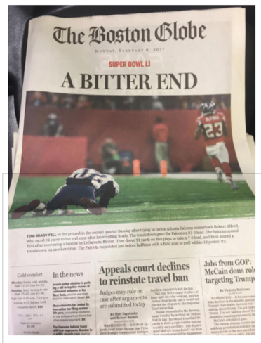 Boston  Globe Headline