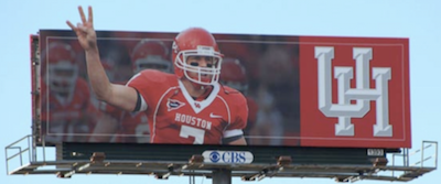 Houston Cougar Sign
