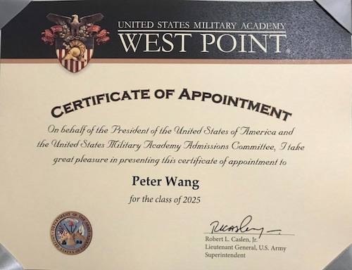West Point Certificate