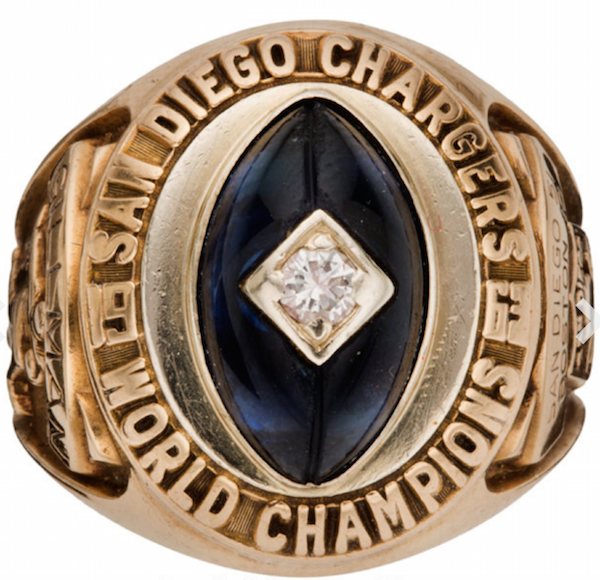 San Diego Chargers Championship Rings: COACH WYATT'S NEWS YOU CAN USE